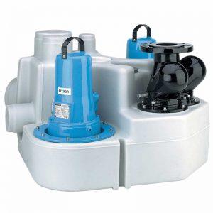 HOMA SANISTAR 220W / 230D Abwasser-Doppelhebeanlage - mit integrierte Rückschlagklappe